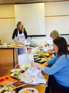 Sushi lesson at The Guildford Institute