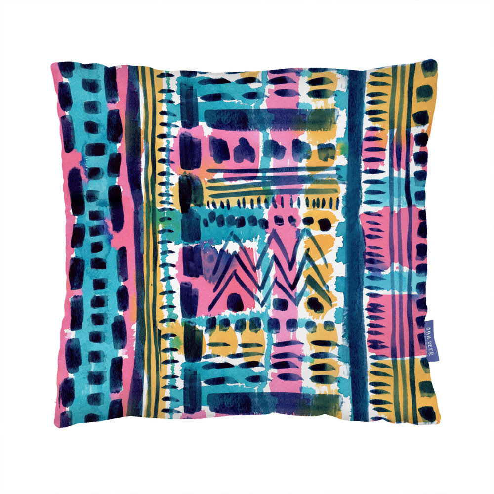 Brushstroke Geo cushion