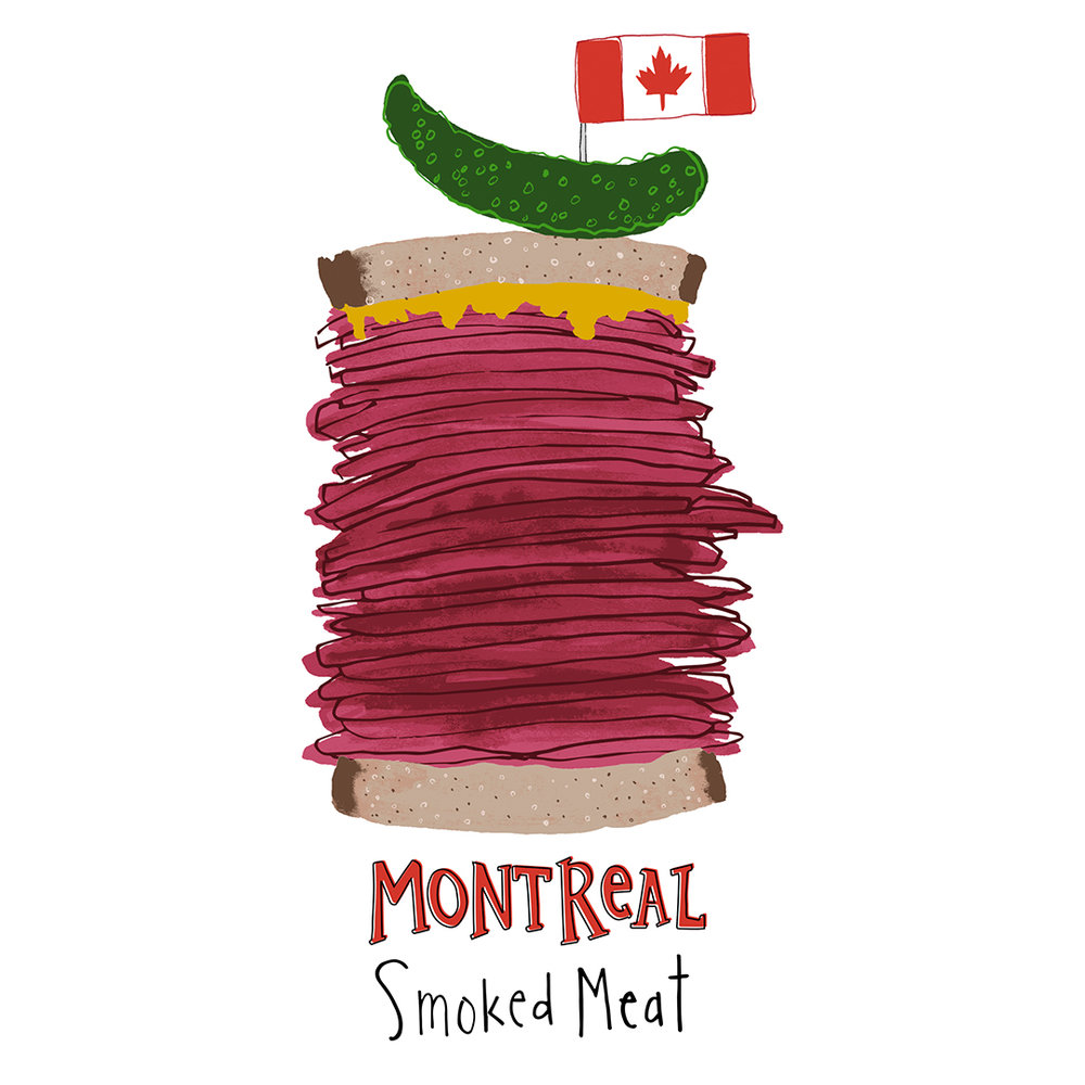A Montreal smoked meat sandwich is a deli-lovers dream!