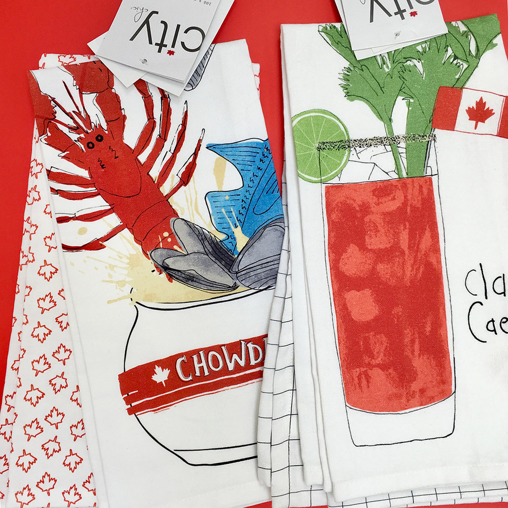 2 pack tea towels available at HomeSense stores nationwide