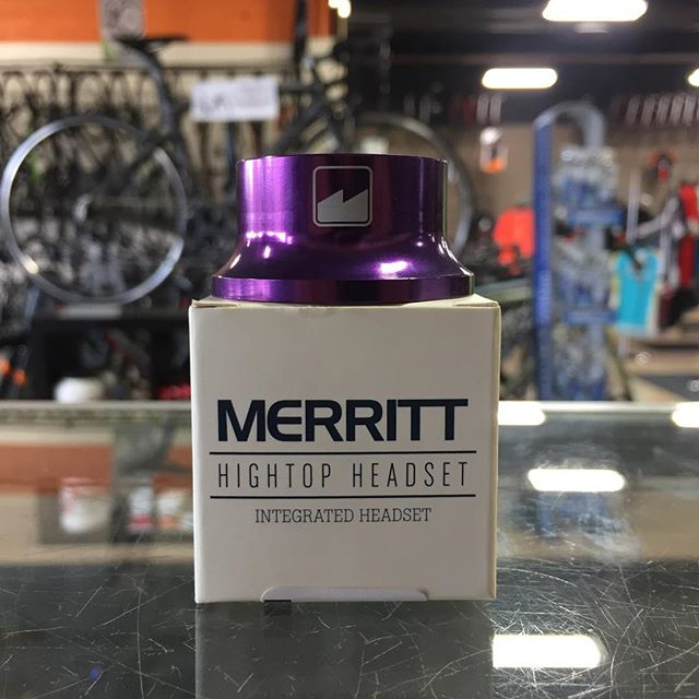 Is your headset making weird sounds and not tightening properly? The @merrittbmx Hightop Headset Now in Stock! Available in Purple & Black.  #bmx #thebikezone #thegoodshops #killemall #ogcbmx #ryderbmx #bmxlife #localspots #stem #bar #parts #bikeparts