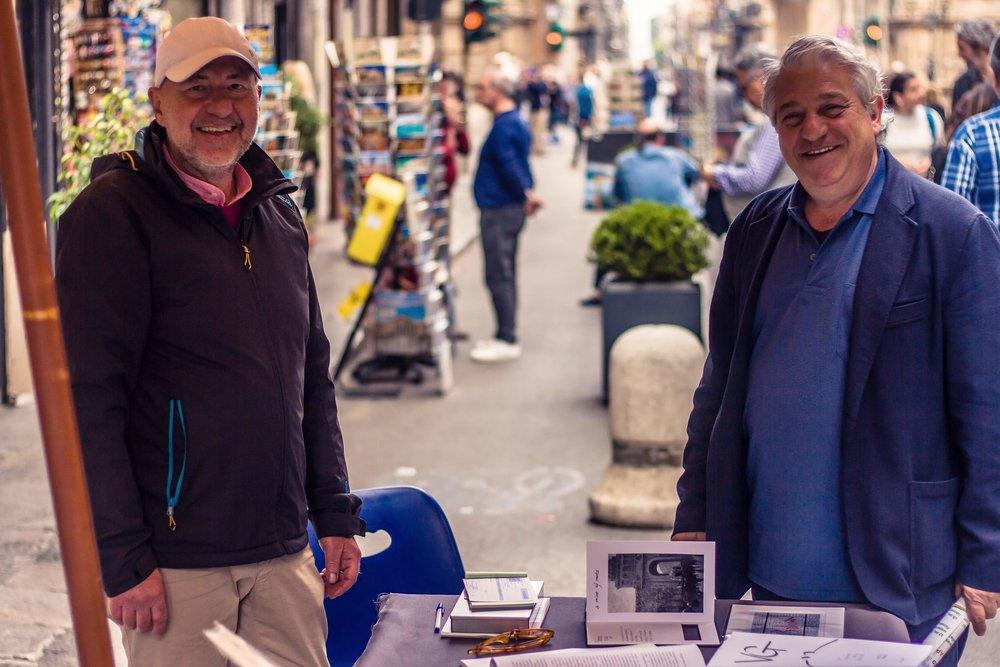 photo credit:  Ihor . A destra Pietro Muratore, Presidente di Alab e grande appassionato di storie.