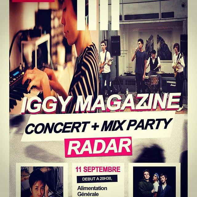 #next #show #Alimentationgenerale #11septembre2015 #radarlive #HolyCraft #Llyd @patrickiggymagazine #DOIT