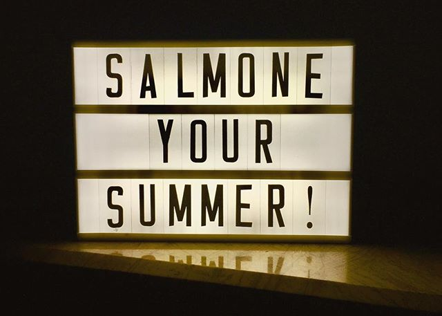 Salmone soon on your table for this Summer , he arrived by the river 🐟🌊🐬 #tour #euro #summer #soon #table #gig