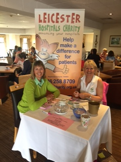 Sue Brand (right) supporting Leicester Hospitals Charity