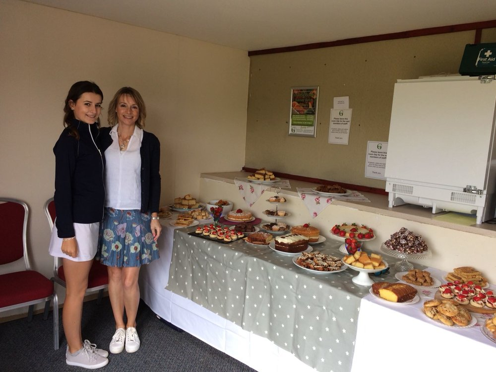 Refreshments offered at the halfway house during the golf day