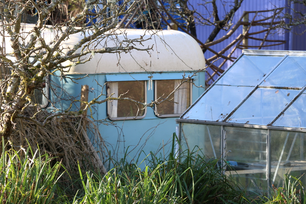 The Findhorn Foundation's famous Original Caravan, as it looked when we started filming in early spring 2015.
