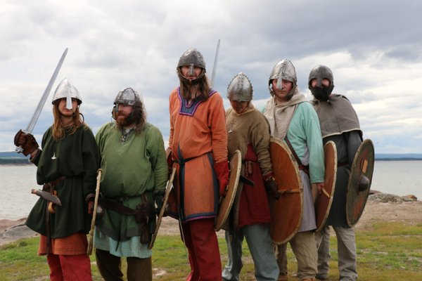 The Glasgow Vikings, preparing to charge at our camera.