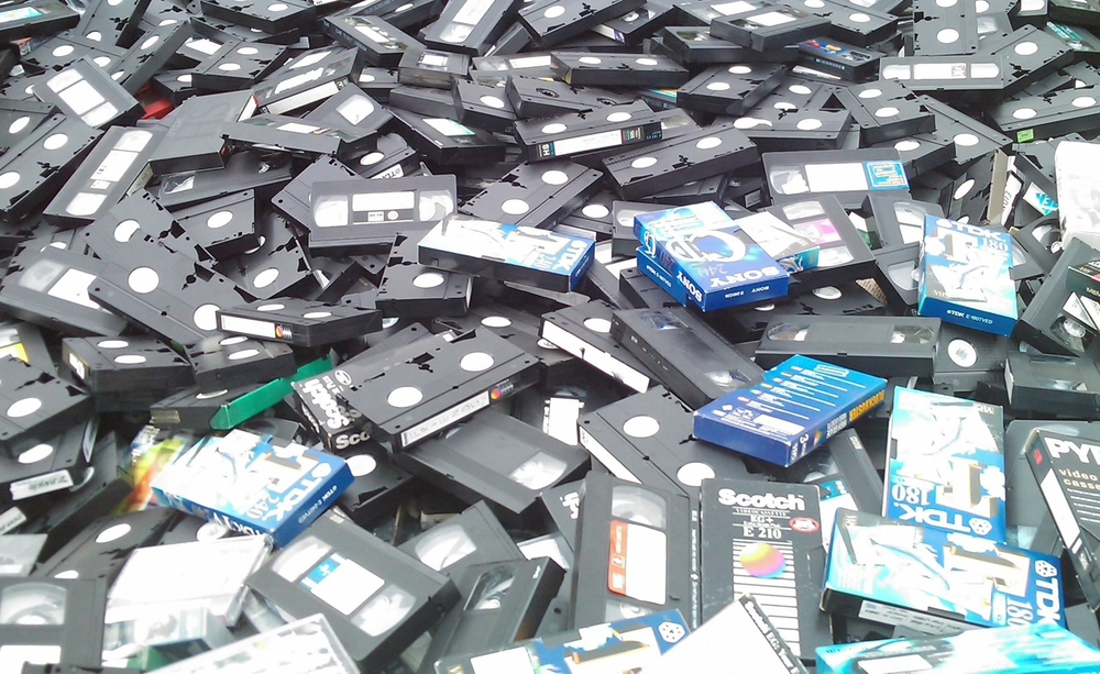 Skip containing discarded VHS tapes. Photo credit: © 2010 Rob Pearce (© rcp:251010:a0028)