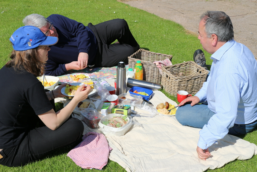 A sumptuous picnic near Birnie Kirk.