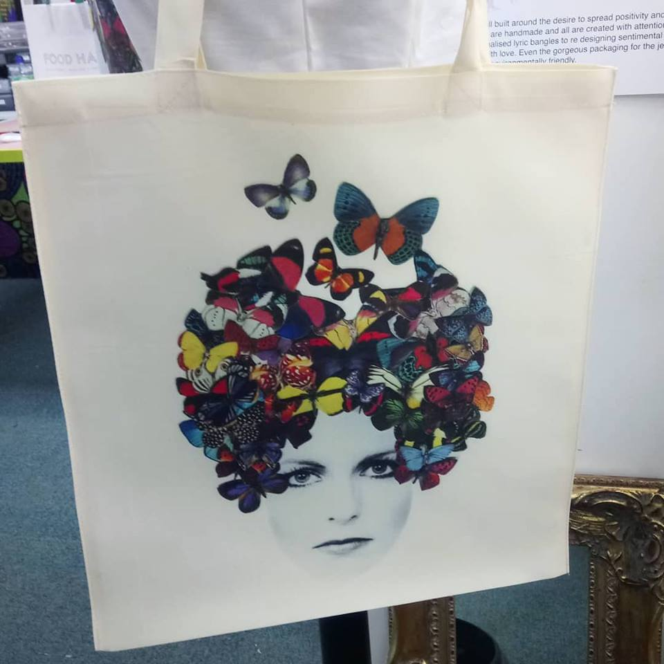 Butterflair Totebag £19.95 ( Printed on heavy rich cream fabric )