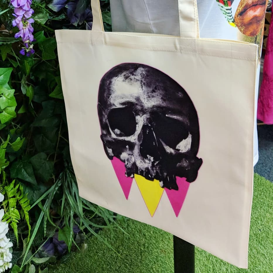 King Skull Totebag £19.95 ( Printed on heavy rich cream fabric )