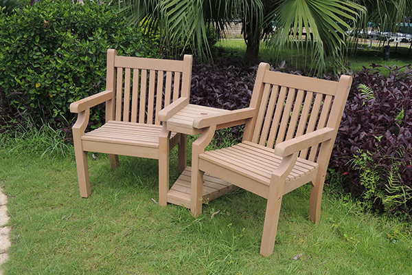 Sandwick Love Seat in Teak RRP: £519.00