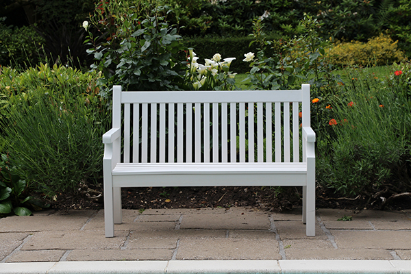 Sandwick 2 Seater Bench in White RRP: £319.00
