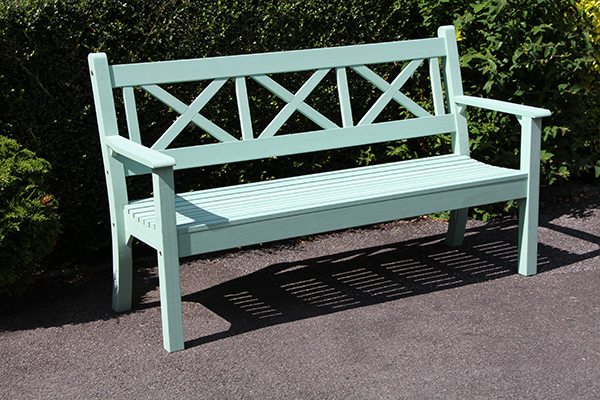 Maywick 3 Seater Bench in Duck Egg Green  RRP: £399.00