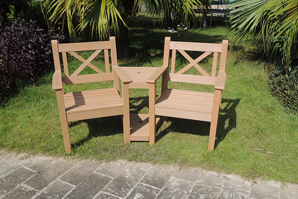 Maywick Love Seat in Teak  RRP: £519.00