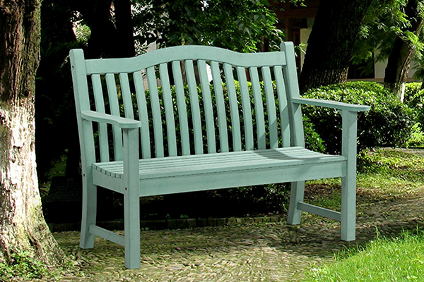 Netherley 2 Seater Bench in Duck Egg Green  RRP: £319.00