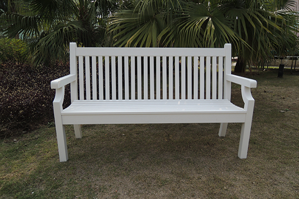 Sandwick 3 Seater Bench in White RRP: £399.00