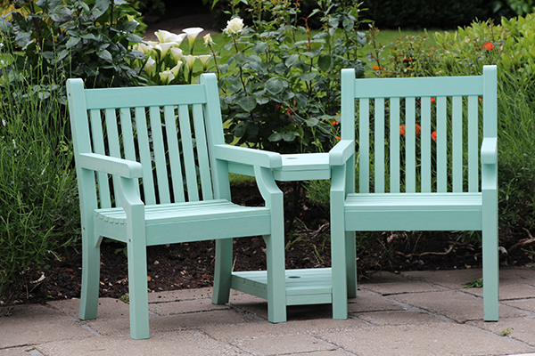 Sandwick Love Seat in Duck Egg Green RRP: £519.00