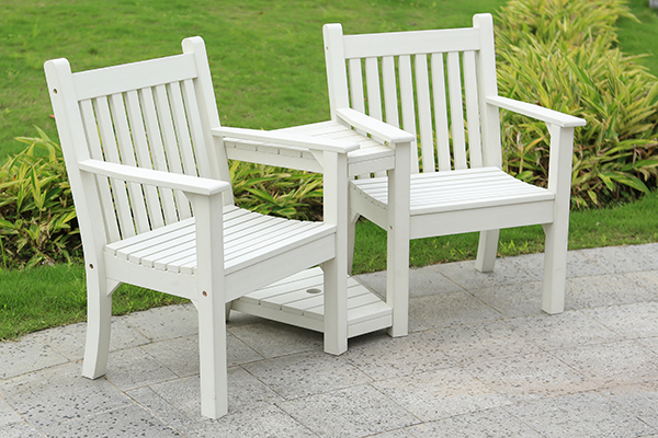 Colvister Love Seat in White  RRP: £519.00