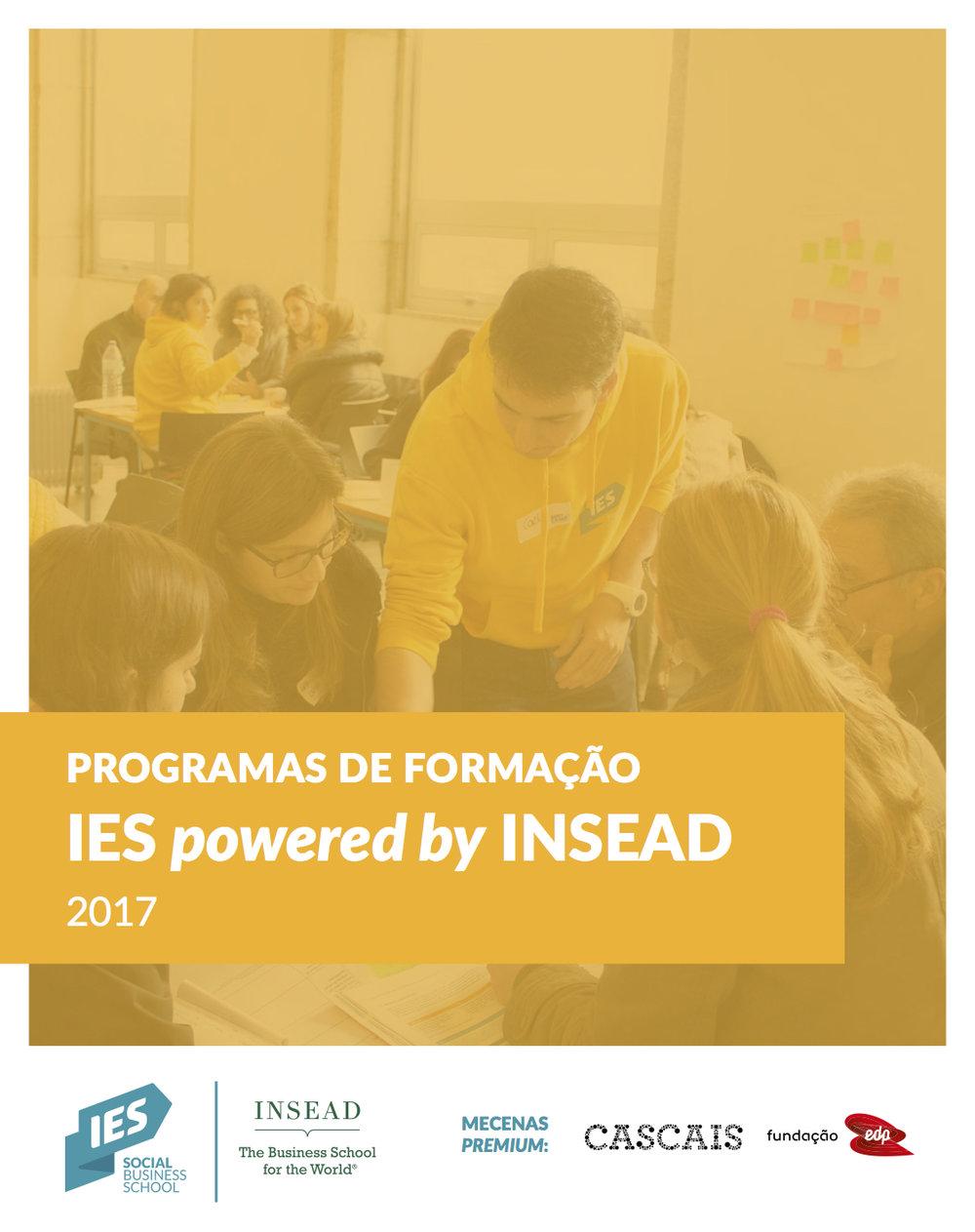 Apresentação da formação IES powered by INSEAD para 2017