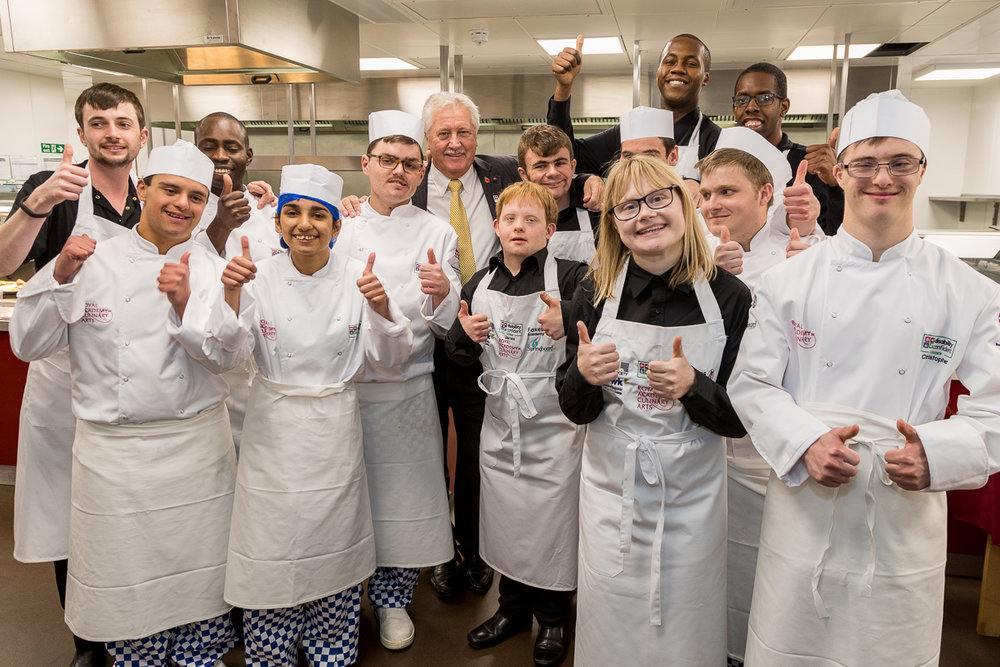 Foxes Academy students catering at a recent event