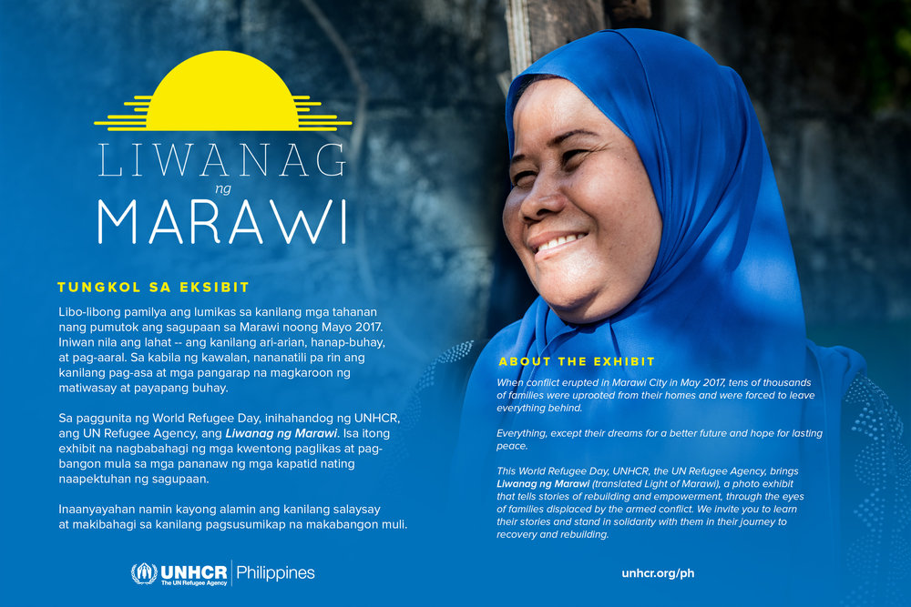 About Liwanag ng Marawi, displayed at the main entrance of the exhibit