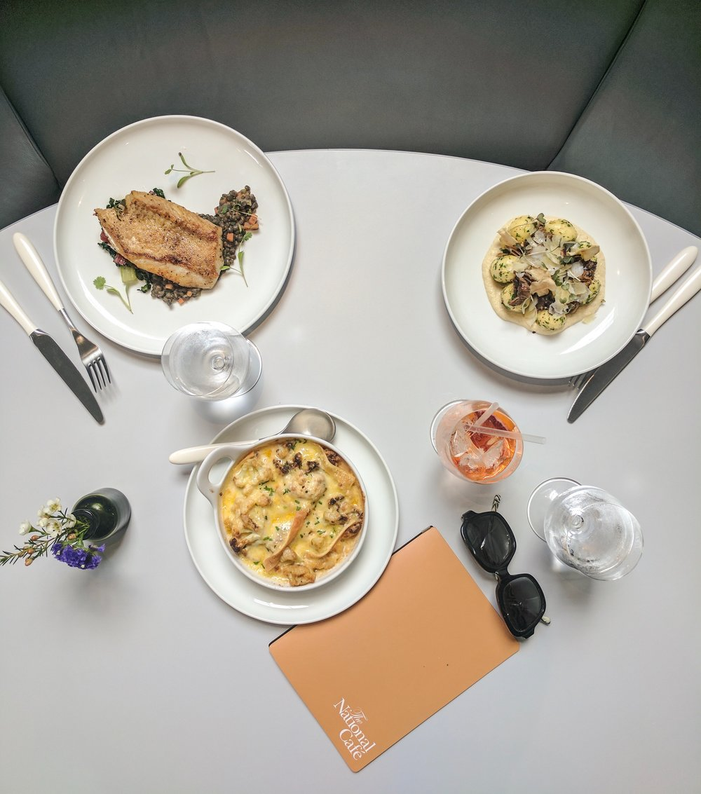 Our superb lunch: Cornish brill, gnocchi and cauliflower cheese