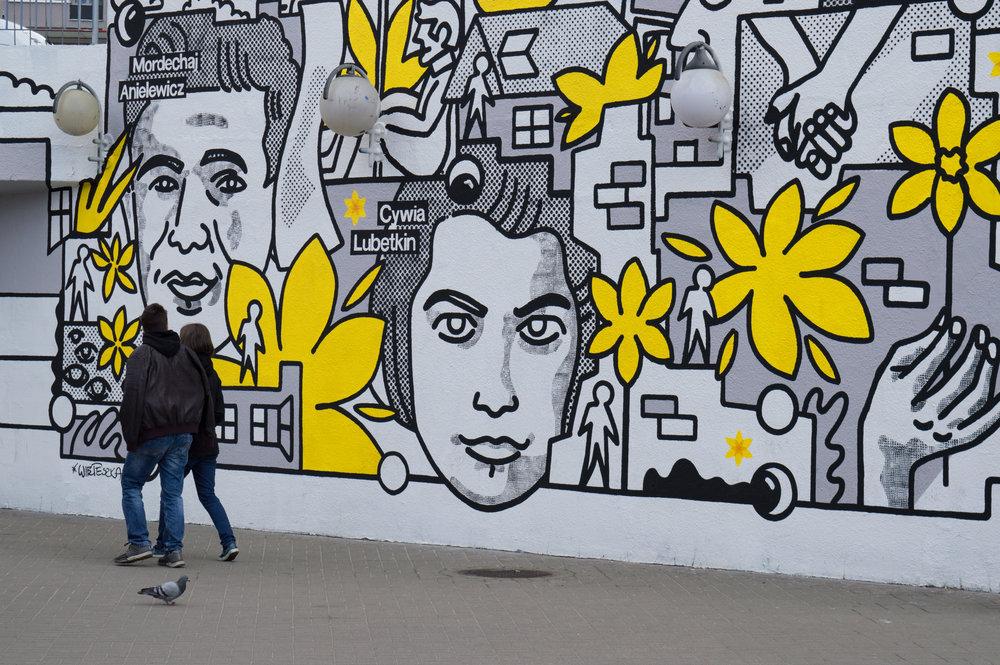 Uprising street art by  Andrzej Wieteszka