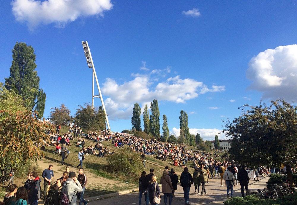 Sundays at Mauerpark in Prenzlauer Berg