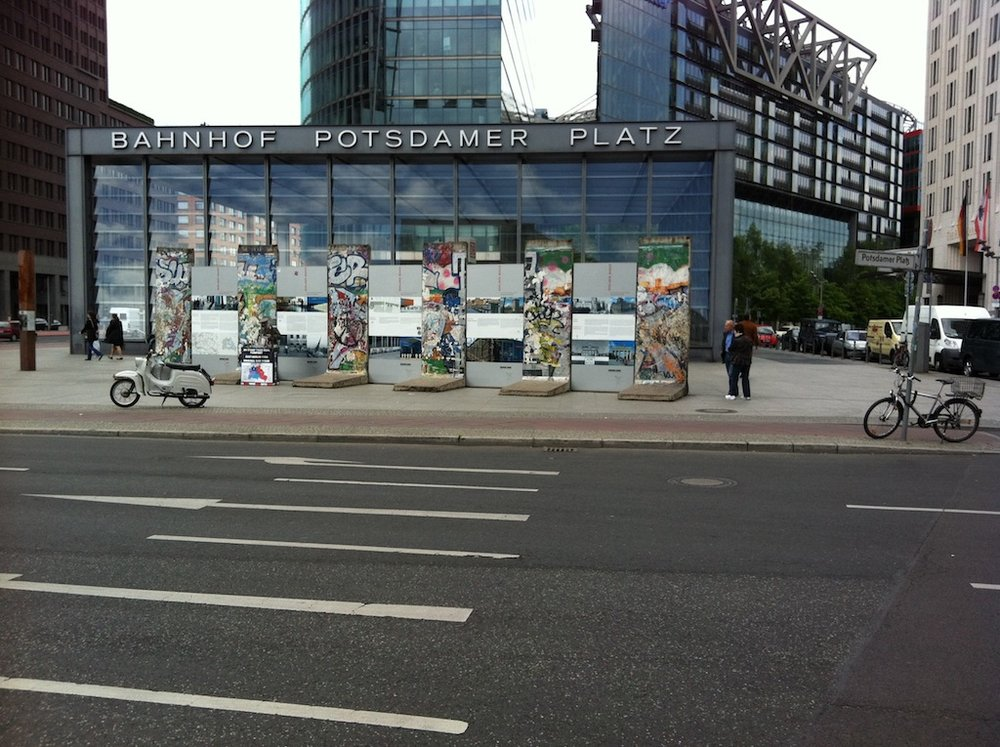The Berlin Wall at Potsdamer Platz