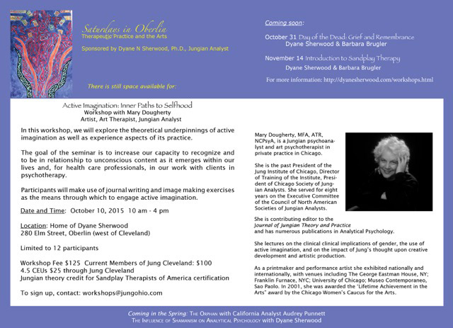 Click here for PDF Version Please note: JUNG CLEVELAND is not handling or accepting registrations for this event. For additional information and to register, please contact:workshops@jungohio.com
