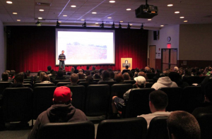 Patrick speaking at Central Connecticut State University