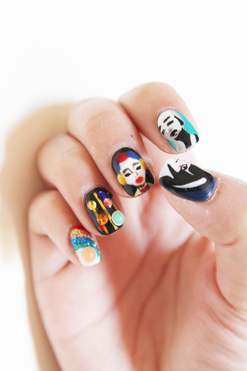 prada inspired nail art