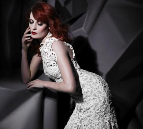 Florence Welch shot by Karl Lagerfeld.