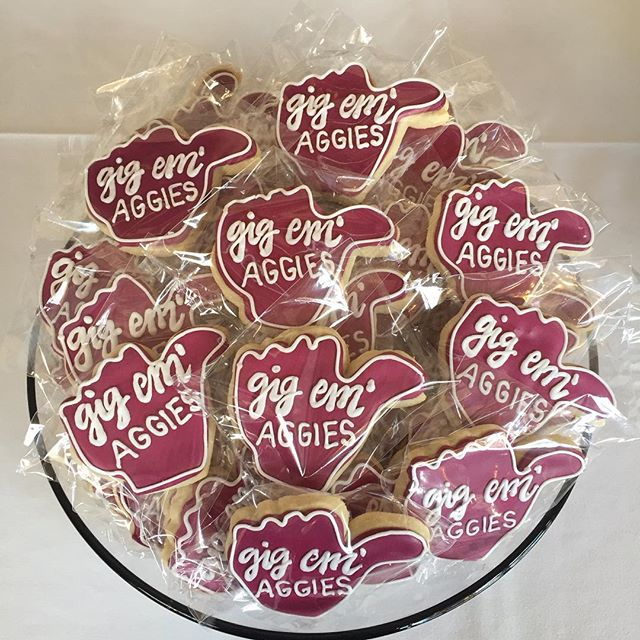 Gig 'me Aggies, taste as good as they look, these favors always go fast!