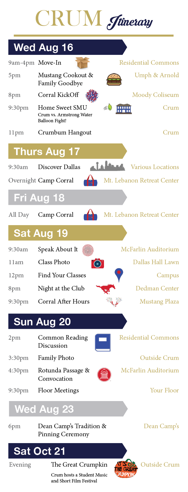 2017 Itinerary (click to expand)
