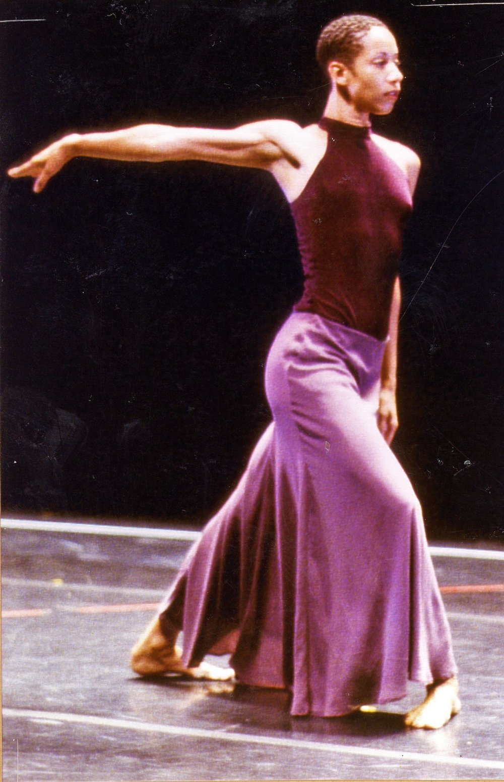 BILL T JONES AND ARNIE ZANE DANCE COMPANY, Joyce Theater, 1996, New Duet, perfromed by Bill T Jones and Odile Reine-Adelaide