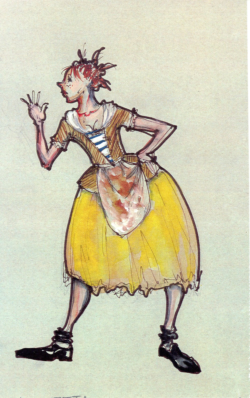 New Place costume sketch