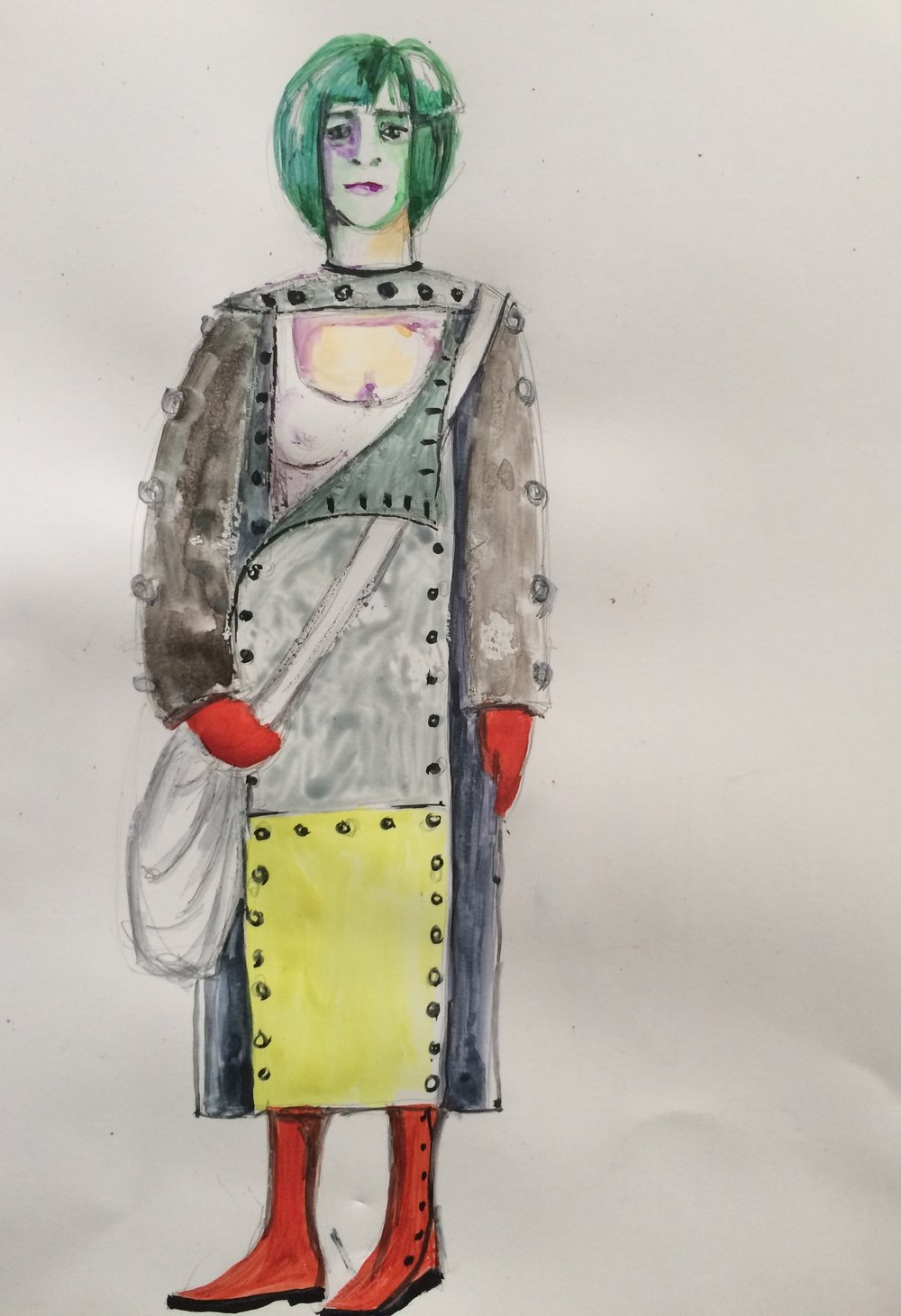 Jane Doe, act II. Costume sketch by Olga Maslova