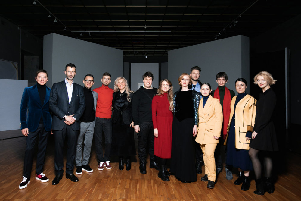 """Black Square"" creative team at the opening night at Tretyakov's Gallery, November 27th 2018, Moscow, Russia. GQ Magazine coverage embedded."