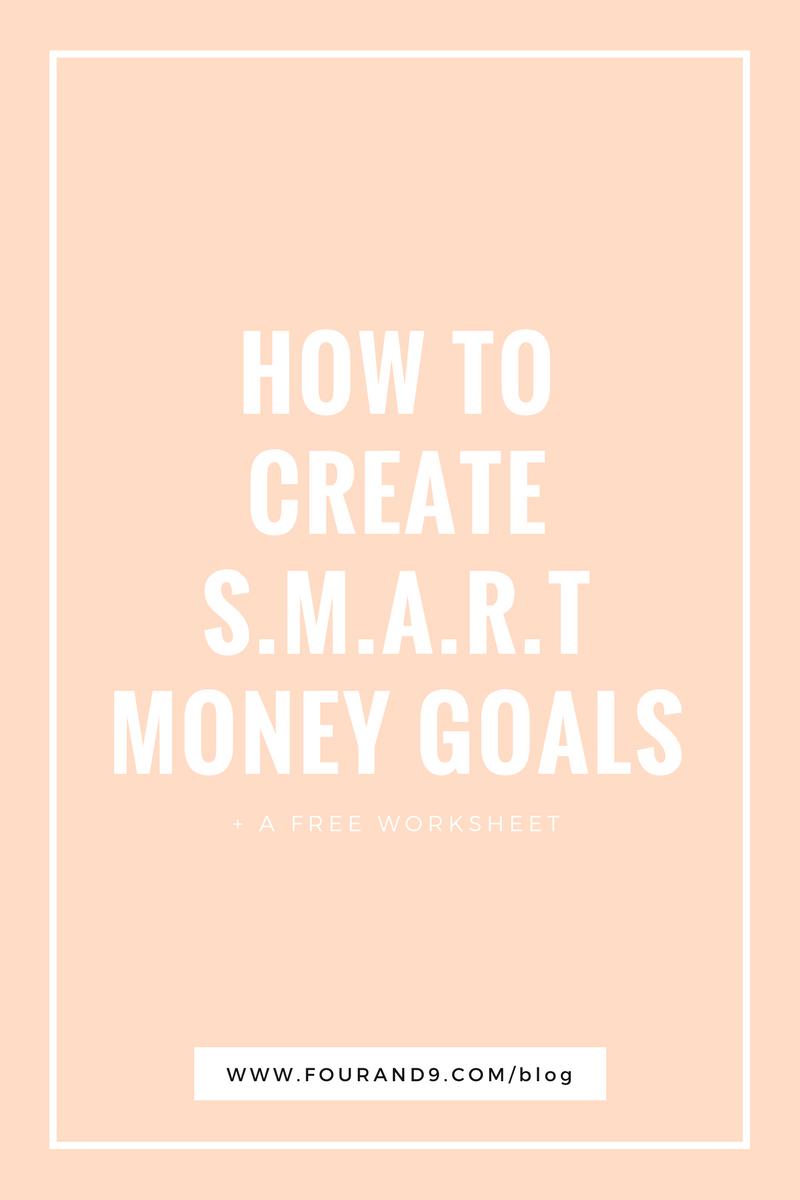 SMART money goals
