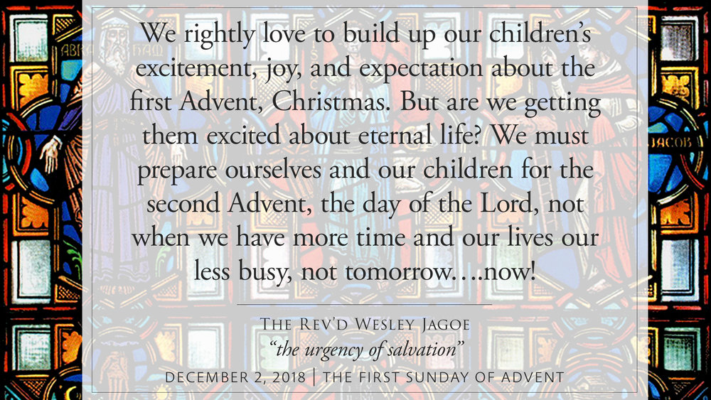 Rev'd Wesley Jagoe — 2018 Sermons — St Peter's Anglican Cathedral