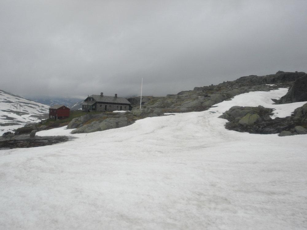 Oppe var det enda mer snø