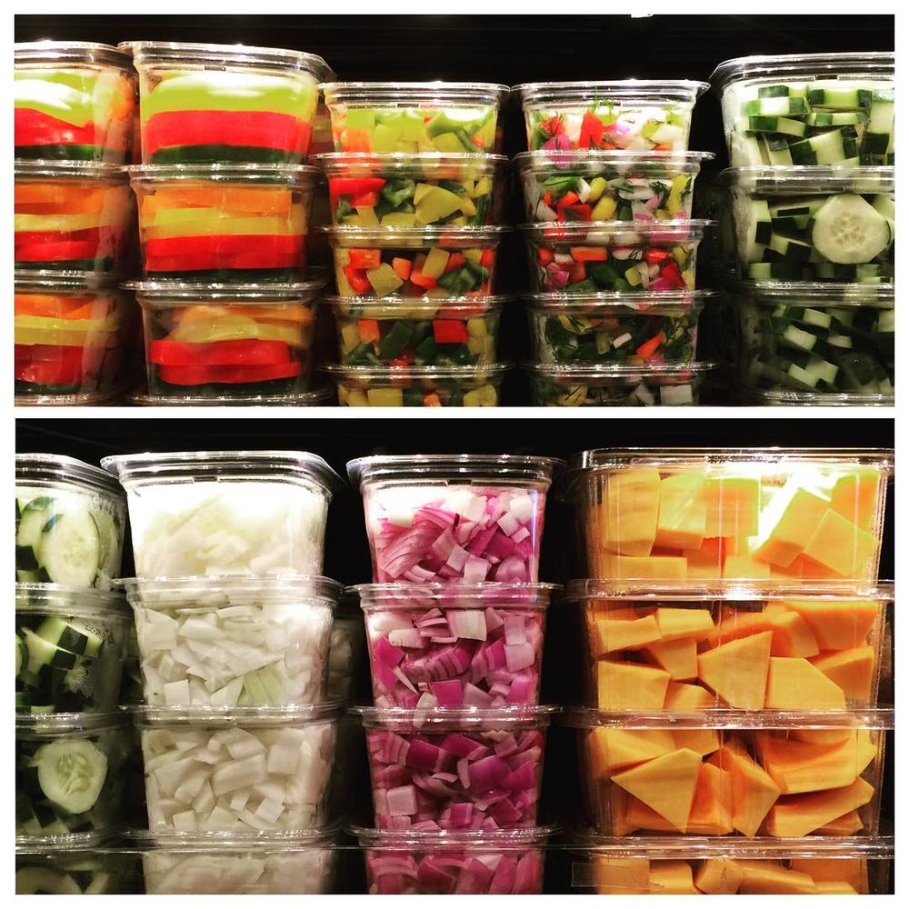 There is #noshame in using #precut #veggies and #fruits. If it's going to help you eat more of them and/or use them in your #cooking, do it! Just buy them. #justdoit #bushwick #bushwicknutrition #lazynutritionist #lazynutrition
