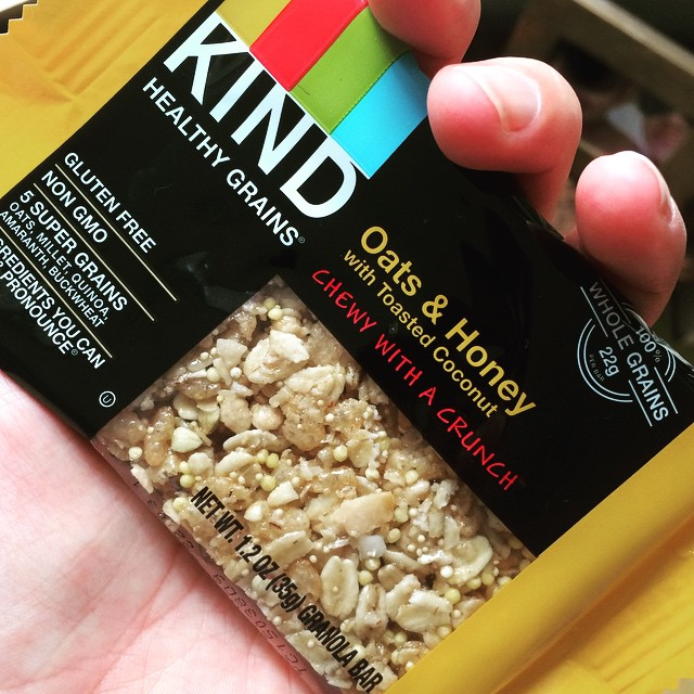 Food shopping is confusing as hell and choosing a healthy #granolabar is no exception. I like @KINDSnacks- partly because I recognize all the ingredients, but also, because most (not all) bars are pretty low in sugar. This one is only 6 grams of sugar with 2.5 grams of fiber. Perfect for a small snack or pre-workout burst of energy. #healthysnacks #lowsugar #highfiber #bushwick #bushwicknutrition
