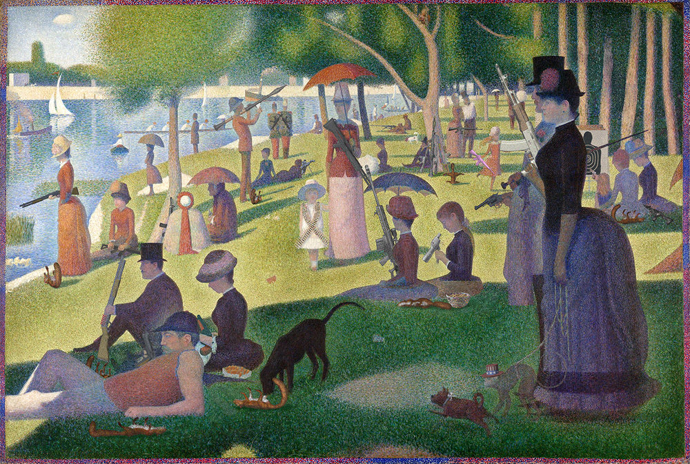 sunday on la grande jatte with the gun lobby.jpg