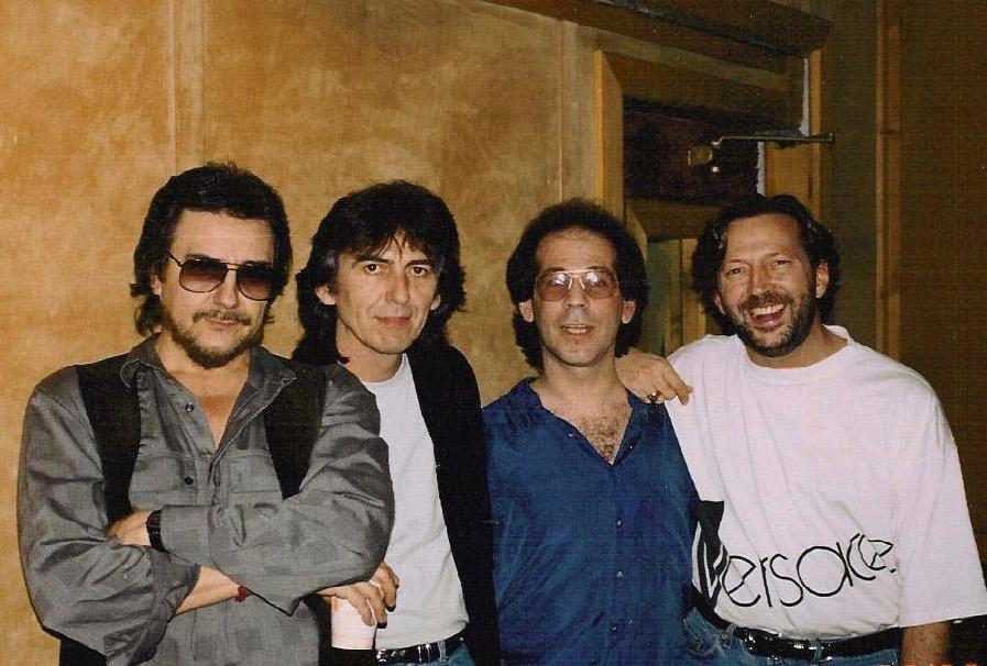 With Jim Keltner, George Harrison & Eric Clapton recording the Journeyman album, Power Station, NYC