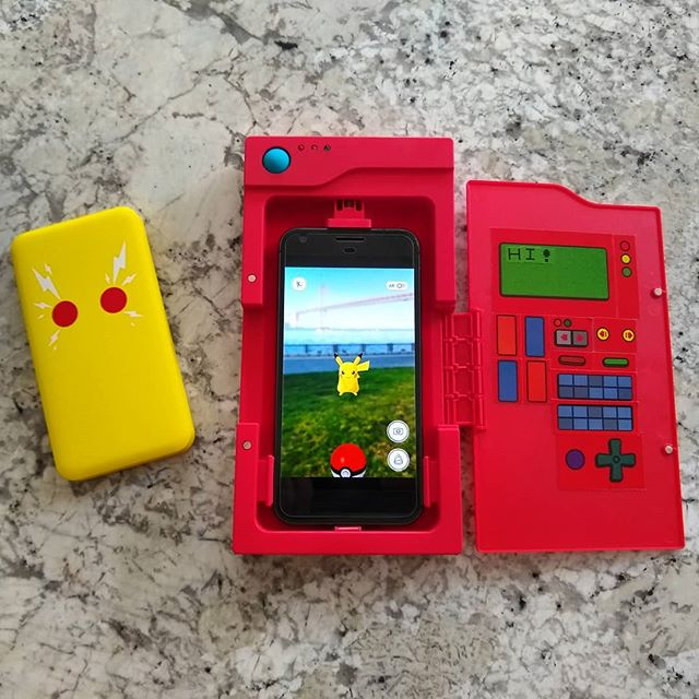 The Chargemander turns your phone into a giant Pokedex to enhance your Pokemon Go experience.  Initial impressions are not great. Poorly designed and constructed and lacks USB-C charging to top the 6000 mAh battery up.  Will give it the full review soon.  #pokemongo #pokemon #tech #gadgets