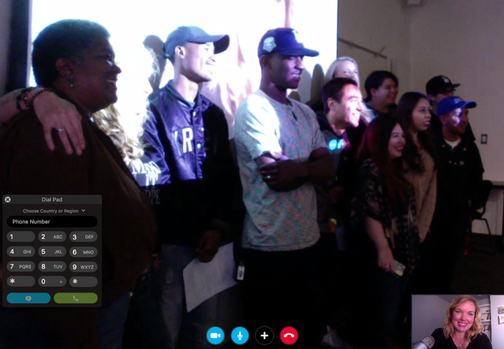 Post Skype Q&A Selfie with students from Chaffey College
